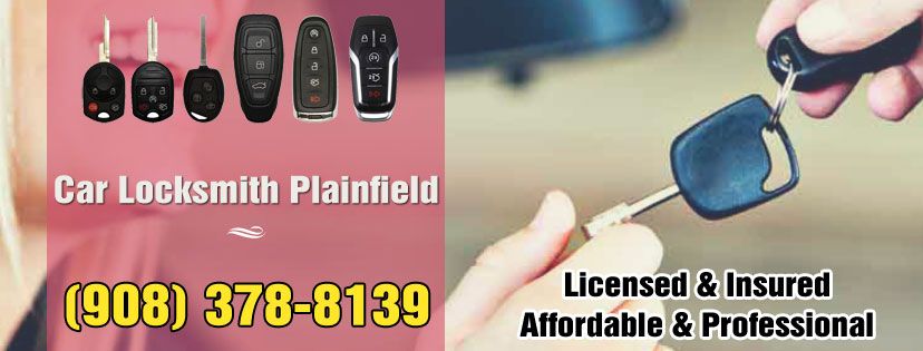 Car Locksmith Plainfield NJ banner